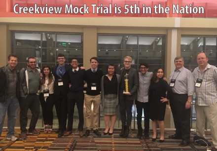 Creekview Mock Trial is 5th in the Nation