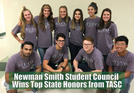 Newman Smith Student Council Wins Top State Honors from TASC
