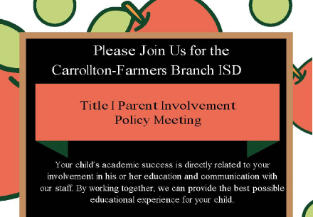 Title I Parent Involvement Policy Meeting