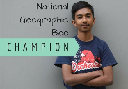National Geographic Bee Champion