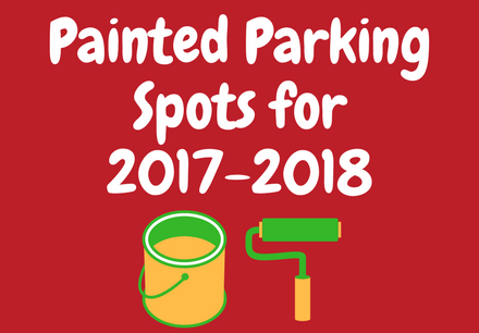 Painted Parking Spots for 2017-2018