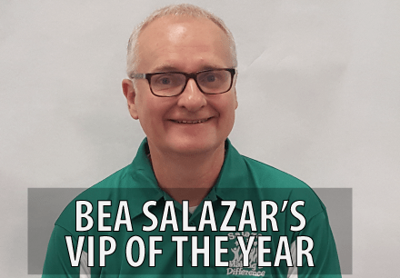 Bea Salazar Learning Centers V I P of the year, Mike Seeley